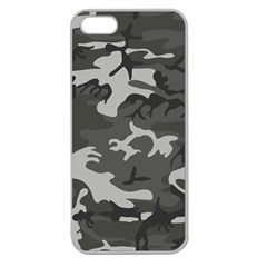 Initial Camouflage Grey Apple Seamless Iphone 5 Case (clear) by Mariart