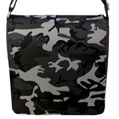 Initial Camouflage Grey Flap Messenger Bag (s) by Mariart