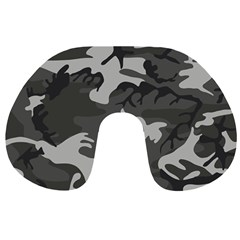 Initial Camouflage Grey Travel Neck Pillows by Mariart