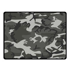Initial Camouflage Grey Double Sided Fleece Blanket (small)  by Mariart