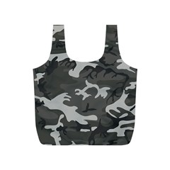 Initial Camouflage Grey Full Print Recycle Bags (s)  by Mariart