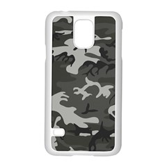 Initial Camouflage Grey Samsung Galaxy S5 Case (white) by Mariart