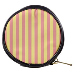 Pink Yellow Stripes Line Mini Makeup Bags by Mariart