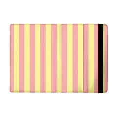 Pink Yellow Stripes Line Apple Ipad Mini Flip Case by Mariart
