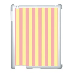 Pink Yellow Stripes Line Apple Ipad 3/4 Case (white) by Mariart