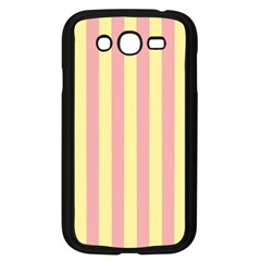 Pink Yellow Stripes Line Samsung Galaxy Grand Duos I9082 Case (black) by Mariart