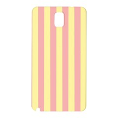 Pink Yellow Stripes Line Samsung Galaxy Note 3 N9005 Hardshell Back Case by Mariart