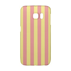 Pink Yellow Stripes Line Galaxy S6 Edge by Mariart