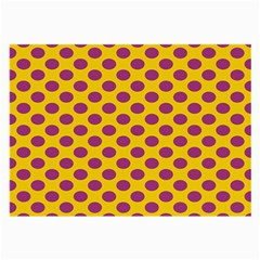 Polka Dot Purple Yellow Large Glasses Cloth (2 Side) by Mariart