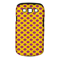 Polka Dot Purple Yellow Samsung Galaxy S Iii Classic Hardshell Case (pc+silicone) by Mariart