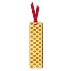 Polka Dot Purple Yellow Small Book Marks by Mariart