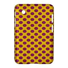 Polka Dot Purple Yellow Samsung Galaxy Tab 2 (7 ) P3100 Hardshell Case  by Mariart