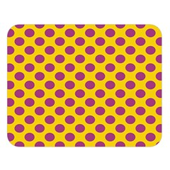 Polka Dot Purple Yellow Double Sided Flano Blanket (large)