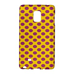 Polka Dot Purple Yellow Galaxy Note Edge by Mariart