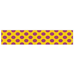 Polka Dot Purple Yellow Flano Scarf (small)