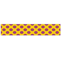 Polka Dot Purple Yellow Flano Scarf (large) by Mariart