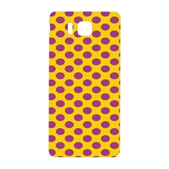 Polka Dot Purple Yellow Samsung Galaxy Alpha Hardshell Back Case by Mariart