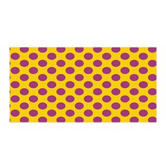 Polka Dot Purple Yellow Satin Wrap by Mariart