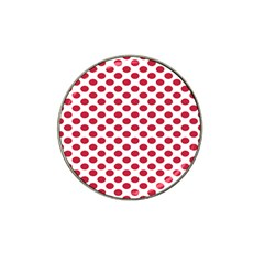 Polka Dot Red White Hat Clip Ball Marker (10 Pack) by Mariart