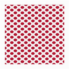 Polka Dot Red White Medium Glasses Cloth by Mariart