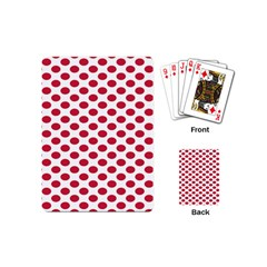 Polka Dot Red White Playing Cards (mini)  by Mariart