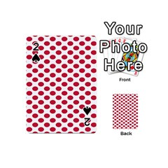 Polka Dot Red White Playing Cards 54 (mini)  by Mariart