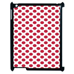 Polka Dot Red White Apple Ipad 2 Case (black) by Mariart