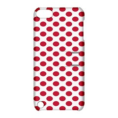 Polka Dot Red White Apple Ipod Touch 5 Hardshell Case With Stand by Mariart