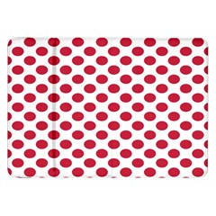 Polka Dot Red White Samsung Galaxy Tab 8 9  P7300 Flip Case by Mariart