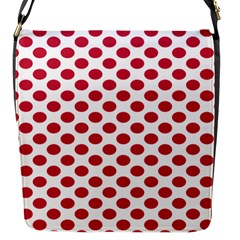 Polka Dot Red White Flap Messenger Bag (s) by Mariart