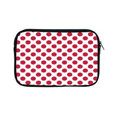 Polka Dot Red White Apple Ipad Mini Zipper Cases by Mariart