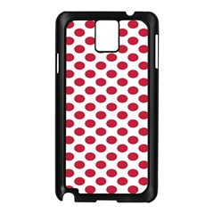 Polka Dot Red White Samsung Galaxy Note 3 N9005 Case (black) by Mariart