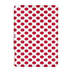 Polka Dot Red White Galaxy Note 1 by Mariart