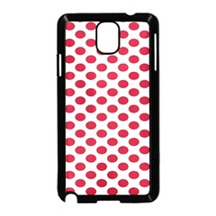 Polka Dot Red White Samsung Galaxy Note 3 Neo Hardshell Case (black) by Mariart