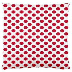 Polka Dot Red White Standard Flano Cushion Case (two Sides) by Mariart