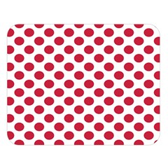 Polka Dot Red White Double Sided Flano Blanket (large)  by Mariart