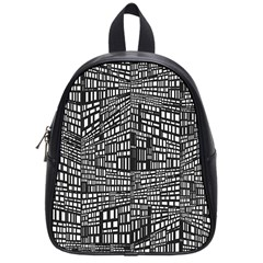 Plaid Black White School Bags (small)  by Mariart