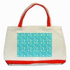 Record Blue Dj Music Note Club Classic Tote Bag (red) by Mariart