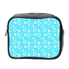 Record Blue Dj Music Note Club Mini Toiletries Bag 2 Side