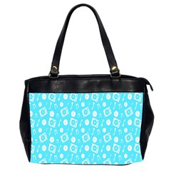 Record Blue Dj Music Note Club Office Handbags (2 Sides)  by Mariart