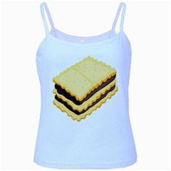 Sandwich Biscuit Chocolate Bread Baby Blue Spaghetti Tank by Mariart