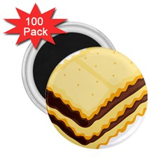 Sandwich Biscuit Chocolate Bread 2 25  Magnets (100 Pack)