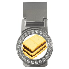 Sandwich Biscuit Chocolate Bread Money Clips (cz)  by Mariart