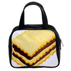 Sandwich Biscuit Chocolate Bread Classic Handbags (2 Sides) by Mariart