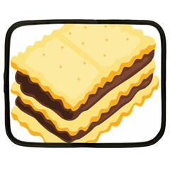 Sandwich Biscuit Chocolate Bread Netbook Case (xl)  by Mariart