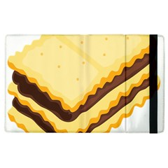 Sandwich Biscuit Chocolate Bread Apple Ipad 2 Flip Case by Mariart
