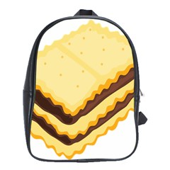 Sandwich Biscuit Chocolate Bread School Bags (xl)  by Mariart