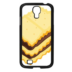 Sandwich Biscuit Chocolate Bread Samsung Galaxy S4 I9500/ I9505 Case (black) by Mariart