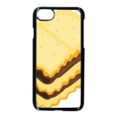 Sandwich Biscuit Chocolate Bread Apple Iphone 7 Seamless Case (black) by Mariart