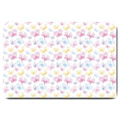 Pretty Colorful Butterflies Large Doormat